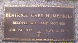 Mary Virginia Beatrice Bea <i>Cape</i> Humphries