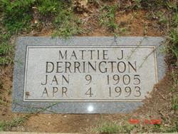 Mattie Joe <i>Woodrum</i> Derrington