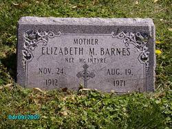 Elizabeth <i>McIntyre</i> Barnes