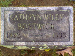 Kathryn Marguerite <i>Riley</i> Bostwick