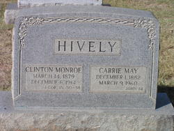 Carrie Ethel <i>May</i> Hively