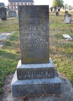 Alice Annette <i>Cook</i> Barringer