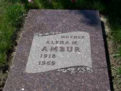 Alpha M <i>Olson</i> Ambur
