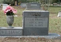 Sallie Frances <i>Jerrell</i> Williams