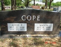 Addie Parthenia <i>McDaniel</i> Cope