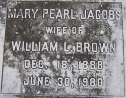 Mary Pearl <i>Jacobs</i> Brown