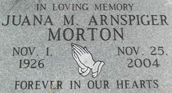 Juana M <i>Arnspiger</i> Morton