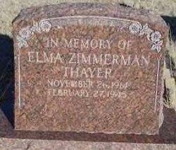 Elma <i>Zimmerman</i> Thayer