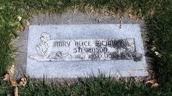 Mary Alice <i>Richards</i> Stevenson