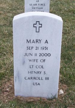 Mary A <i>Weidmeyer</i> Carroll