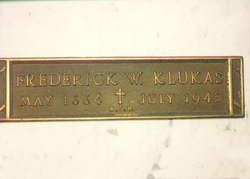 Frederick William Fred Klukas