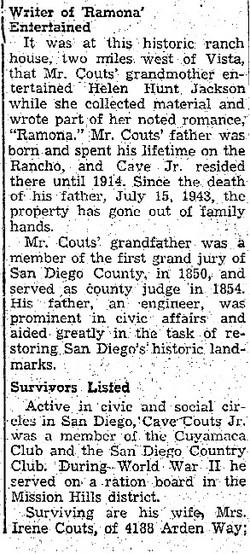 Cave Johnson Couts, Jr
