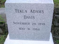 Tekla Maude <i>Adams</i> Davis