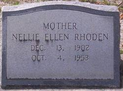 Nellie Ellen <i>Garrett</i> Rhoden
