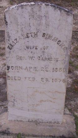 Elizabeth <i>Simmons</i> Garrett
