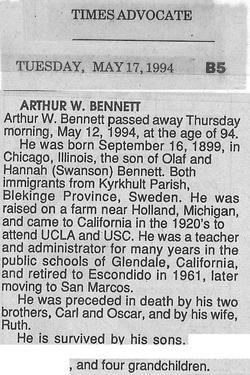 Arthur Walfred Bennett