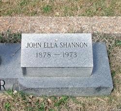 Johnnie Ella <i>Shannon</i> Carr