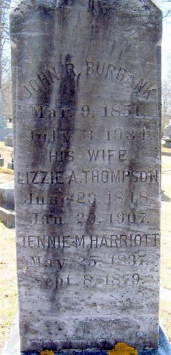 Lizzie A <i>Thompson</i> Burbank