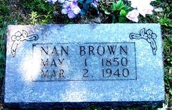 Nancy Matilda Nan <i>Seals</i> Brown