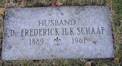 Dr Frederick Hans Konrad Schaaf