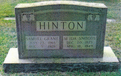 Mary Ida <i>Snoddy</i> Hinton