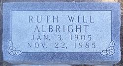 Ruth <i>Will</i> Albright