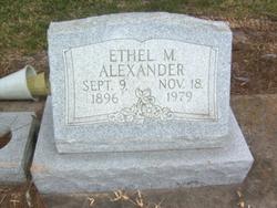 Ethel M Alexander