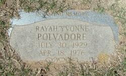 Rayah Yvonne Polvadore