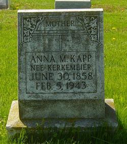 Anna M <i>Kerkemeier</i> Kapp