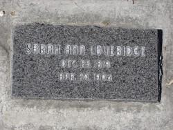 Sarah Ann <i>Hall</i> Loveridge