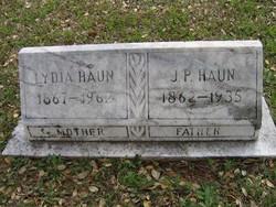 Lydia Luvenia Emily <i>McKeel</i> Haun