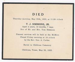 Thomas Jefferson Simmons, III