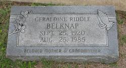 Geraldine <i>Riddle</i> Belknap