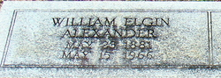 William Elgin Alexander