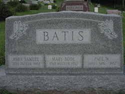 Mary <i>Bode</i> Batis