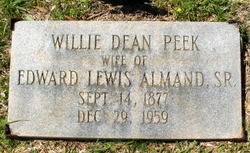 Willie Dean <i>Peek</i> Almand