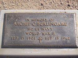 Archie C Burlingame