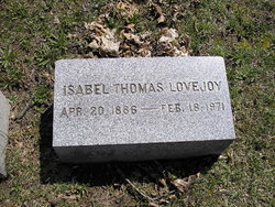 Isabel <i>Thomas</i> Lovejoy