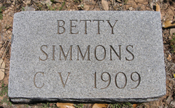 Mary Elizabeth Betty Simmons