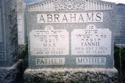 Fannie <i>Danovitch</i> Abrahams