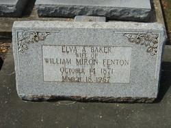 Elva A <i>Baker</i> Fenton