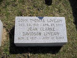 Jean <i>Clark Davidson</i> Lovejoy