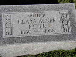 Clara <i>Acker</i> Heter