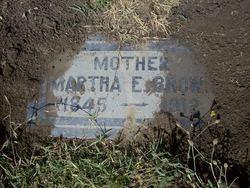 Martha Ellen Mattie <i>Hinman</i> Brown