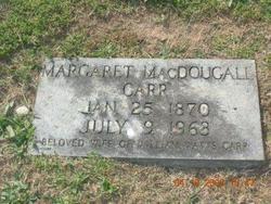 Margaret Madge <i>MacDougall</i> Carr