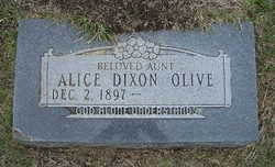 Alice <i>Dixon</i> Olive