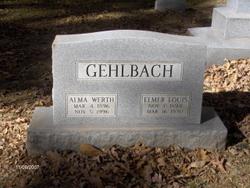 Alma Katherine <i>Werth</i> Gehlbach
