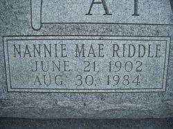 Nannie Mae <i>Riddle</i> Atwood