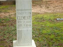 Mary <i>Allen</i> Clements