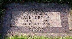 Gertrude Johanna <i>Peerenboom</i> Abendroth